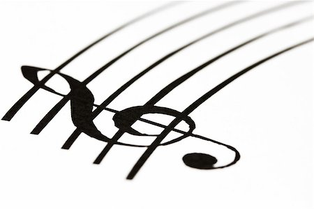 Music sheet with treble clef Stock Photo - Budget Royalty-Free & Subscription, Code: 400-06523921