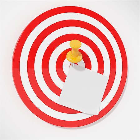 3d illustration of target with pin and sticker. Stock Photo - Budget Royalty-Free & Subscription, Code: 400-06530475