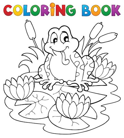 flower clipart paint - Coloring book river fauna image 2 - vector illustration. Stock Photo - Budget Royalty-Free & Subscription, Code: 400-06531231