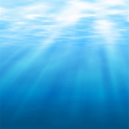 Editable vector illustration of sunlight filtering under water made using a gradient mesh Stock Photo - Budget Royalty-Free & Subscription, Code: 400-06554308