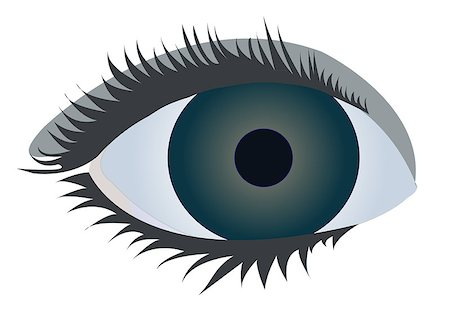 charming eye, vector Stock Photo - Budget Royalty-Free & Subscription, Code: 400-06555223