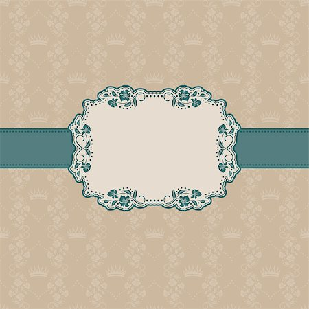 Vector template frame design for greeting card . Background - seamless pattern. Stock Photo - Budget Royalty-Free & Subscription, Code: 400-06555299