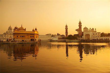 punjabi - Sunrise at Golden Temple in Amritsar, Punjab, India. Stock Photo - Budget Royalty-Free & Subscription, Code: 400-06558376