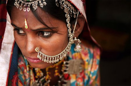 Portrait of Traditional Indian woman in sari costume covered her face with veil, India Stock Photo - Budget Royalty-Free & Subscription, Code: 400-06558388