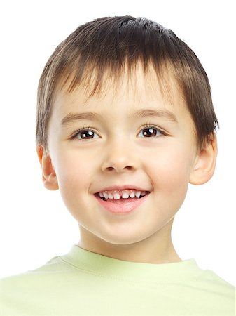 beautiful smiling boy portrait, isolated on white Stock Photo - Budget Royalty-Free & Subscription, Code: 400-06558849