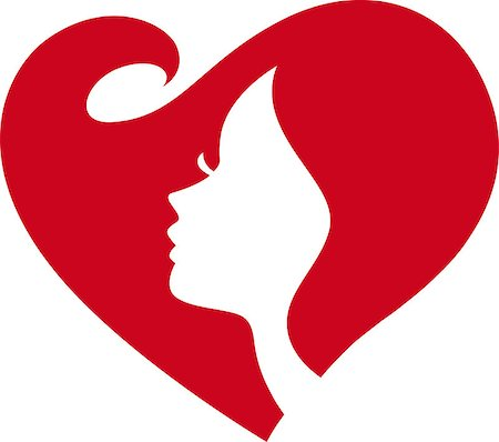 simsearch:400-04863562,k - female silhouette red heart Stock Photo - Budget Royalty-Free & Subscription, Code: 400-06564604