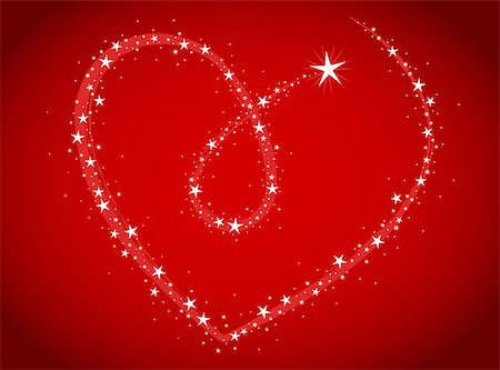 firework illustration - love bright stars in heart shape Stock Photo - Budget Royalty-Free & Subscription, Code: 400-06564801