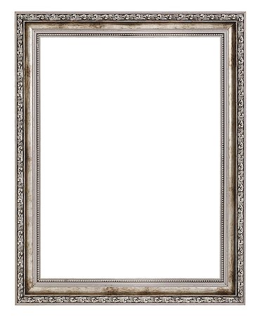 old wooden frame isolated on white background Stock Photo - Budget Royalty-Free & Subscription, Code: 400-06565170