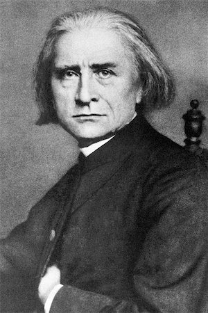 """franxyz - Franz Liszt (1811-1886) on engraving from 1908. Hungarian composer, pianist, conductor and teacher. Engraved by unknown artist and published in """"The world's best music, famous compositions for the piano. Volume 2"""", by The University Society, New York,1908. Stock Photo - Budget Royalty-Free & Subscription, Code: 400-06565267"""