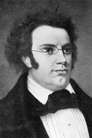 """franxyz - Franz Schubert (1797-1828) on engraving from 1908. Austrian composer. Engraved by unknown artist and published in """"The world's best music, famous songs. Volume 6"""", by The University Society, New York,1908. Stock Photo - Budget Royalty-Free & Subscription, Code: 400-06565270"""
