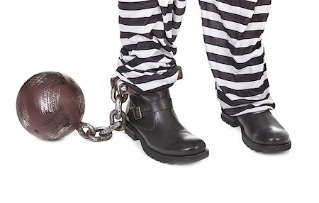 Close-up of prisoners' legs on white background Stock Photo - Budget Royalty-Free & Subscription, Code: 400-06565779