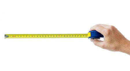 human hand with tape-measure isolated on white Stock Photo - Budget Royalty-Free & Subscription, Code: 400-06566405
