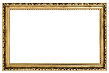 large golden frame isolated on white background Stock Photo - Budget Royalty-Free & Subscription, Code: 400-06567119