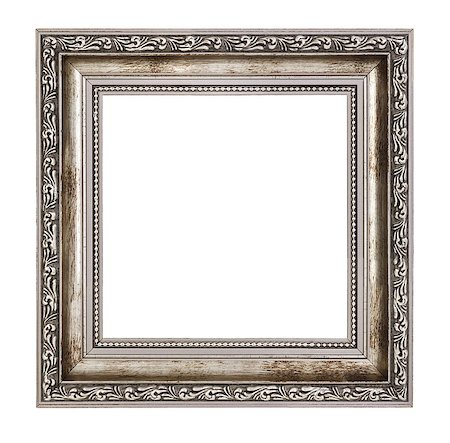 small wooden frame with thick border isolated on white background Stock Photo - Budget Royalty-Free & Subscription, Code: 400-06567122