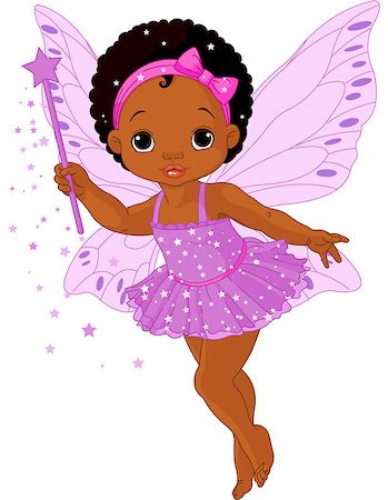 Illustration of Cute little baby fairy in fly Stock Photo - Budget Royalty-Free & Subscription, Code: 400-06561879