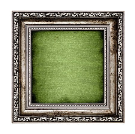 frame with green canvas isolated on white background Stock Photo - Budget Royalty-Free & Subscription, Code: 400-06570779