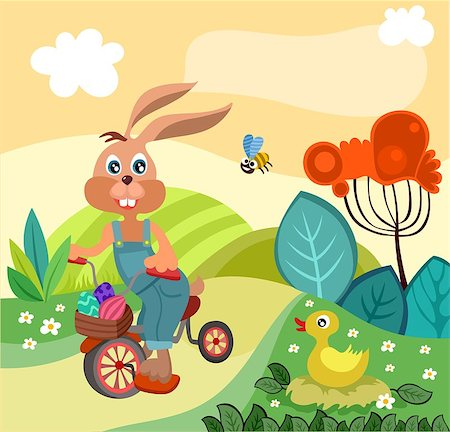 vector illustration of a easter illustration Stock Photo - Budget Royalty-Free & Subscription, Code: 400-06627965