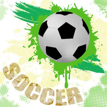 paint dripping graphic - Grunge soccer background with soccer ball and splash, vector illustration Stock Photo - Budget Royalty-Free & Subscription, Code: 400-06628340