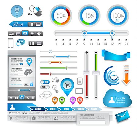 report icon - Infographic elements - set of paper tags, technology icons, cloud cmputing, graphs, paper tags, arrows, world map and so on. Ideal for statistic data display. Stock Photo - Budget Royalty-Free & Subscription, Code: 400-06628384