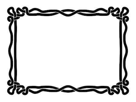 simple black rope calligraph ornamental decorative frame pattern Stock Photo - Budget Royalty-Free & Subscription, Code: 400-06628460