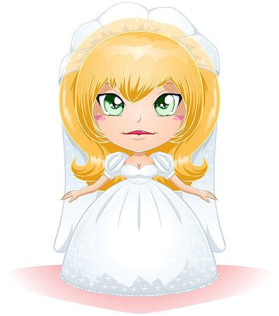 A vector illustration of a bride dressed for her wedding day. Stock Photo - Budget Royalty-Free & Subscription, Code: 400-06629391