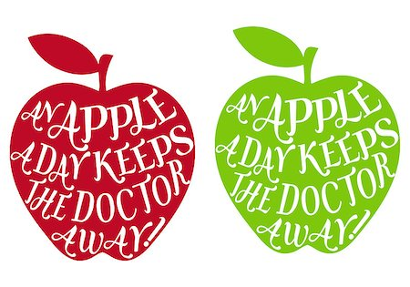 an apple a day keeps the doctor away, vector Stock Photo - Budget Royalty-Free & Subscription, Code: 400-06629933