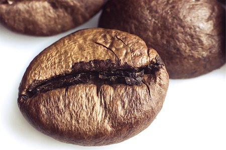 coffee beans on a white background Stock Photo - Budget Royalty-Free & Subscription, Code: 400-06638942