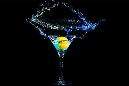 colourful coctail on the black background Stock Photo - Budget Royalty-Free & Subscription, Code: 400-06638951