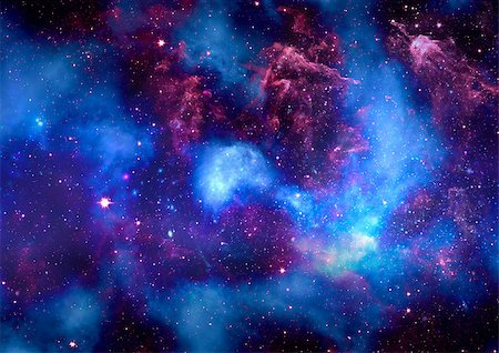 Star field in space, a nebulae and a gas congestion Stock Photo - Budget Royalty-Free & Subscription, Code: 400-06639375