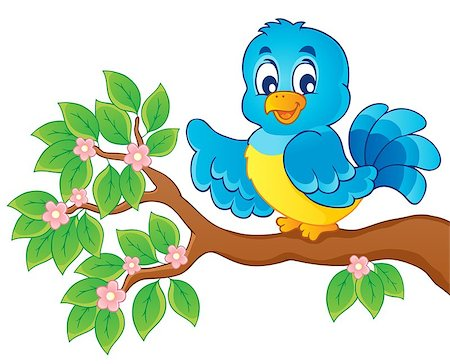 Bird theme image 6 - vector illustration. Stock Photo - Budget Royalty-Free & Subscription, Code: 400-06639447