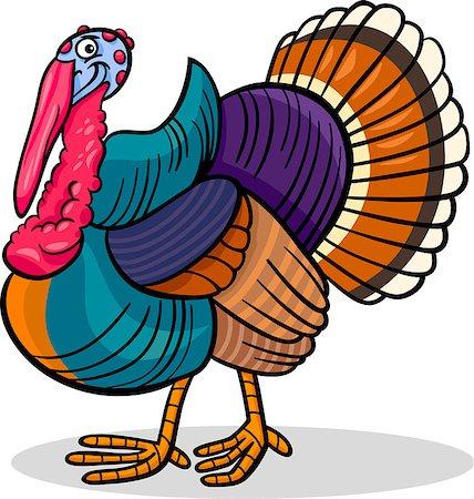 Cartoon Illustration of Funny Turkey Farm Bird Animal Stock Photo - Budget Royalty-Free & Subscription, Code: 400-06630224