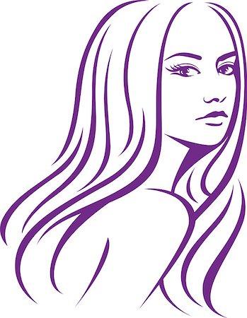 girl fashion hair Stock Photo - Budget Royalty-Free & Subscription, Code: 400-06630439
