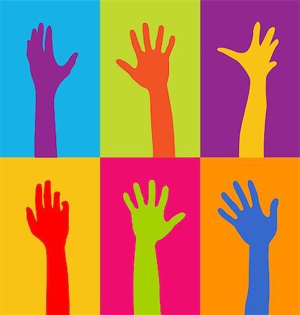hands of different colors Stock Photo - Budget Royalty-Free & Subscription, Code: 400-06630440