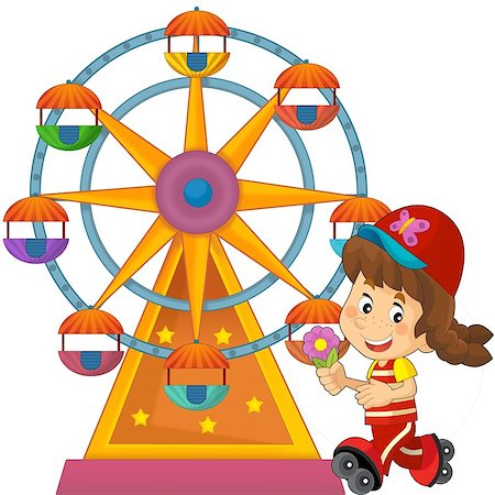 The happy and colorful illustration for the children Stock Photo - Budget Royalty-Free & Subscription, Code: 400-06631407