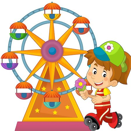 The happy and colorful illustration for the children Stock Photo - Budget Royalty-Free & Subscription, Code: 400-06631409