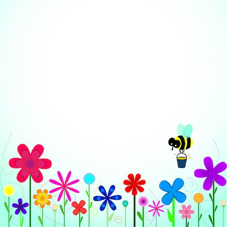 bee pick honey on flowers Stock Photo - Budget Royalty-Free & Subscription, Code: 400-06640307
