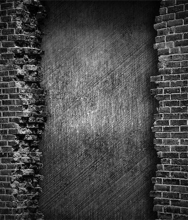 grunge brick wall background Stock Photo - Budget Royalty-Free & Subscription, Code: 400-06641807
