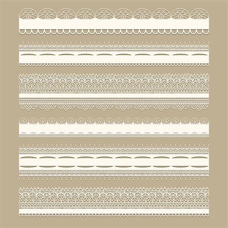 seamless floral - Vector lacy vintage design elements, lacy seamless brushes included, shadows at the separate layer, fully editable eps 8 file Stock Photo - Budget Royalty-Free & Subscription, Code: 400-06686251