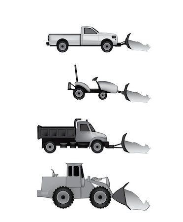 snow plow truck - snow plow icons Stock Photo - Budget Royalty-Free & Subscription, Code: 400-06687421