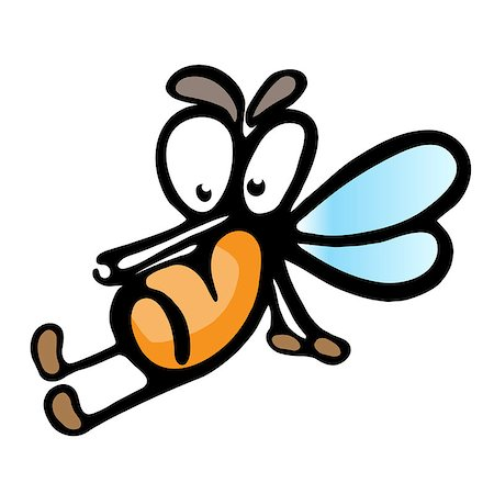 Cartoon mosquito.  Illustration on white background for design Stock Photo - Budget Royalty-Free & Subscription, Code: 400-06687866