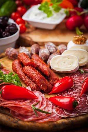 Catering platter with antipasti and fingerfood Stock Photo - Budget Royalty-Free & Subscription, Code: 400-06694625