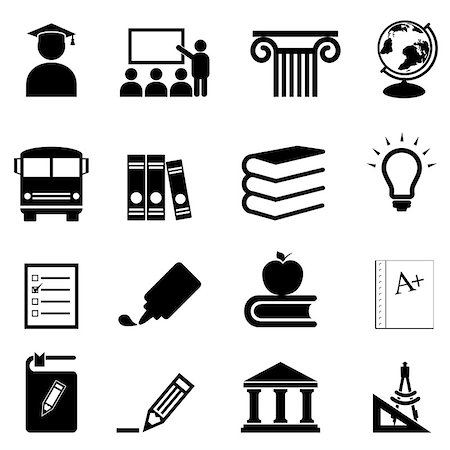 soleilc (artist) - Education and schools icon set Stock Photo - Budget Royalty-Free & Subscription, Code: 400-06697295