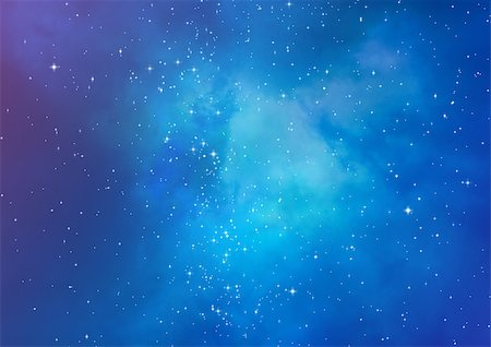 Star field in space and a gas congestion Stock Photo - Budget Royalty-Free & Subscription, Code: 400-06697543