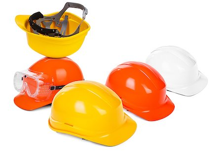 group of hard hats, small natural shadow under objects Stock Photo - Budget Royalty-Free & Subscription, Code: 400-06697752