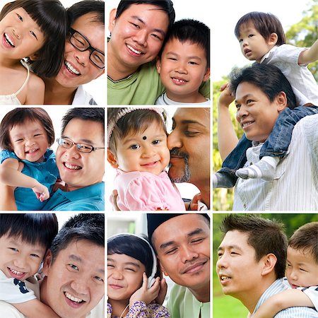 family fun day background - Collage photo father day concept. Diversity family generations having fun at outdoor park and living lifestyle at home. All photos belong to me. Stock Photo - Budget Royalty-Free & Subscription, Code: 400-06697991