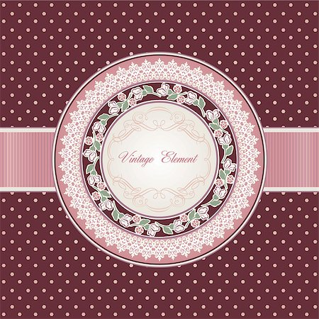 Retro design template for invitation card, greeting card, wedding card Stock Photo - Budget Royalty-Free & Subscription, Code: 400-06698130