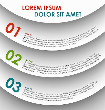 Infographics options banner, circle numbered banner. Vector illustration Stock Photo - Budget Royalty-Free & Subscription, Code: 400-06699342