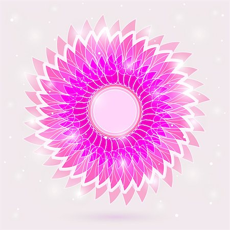 Bright Glowing Fresh Flower Background Card. Vector. Stock Photo - Budget Royalty-Free & Subscription, Code: 400-06693587