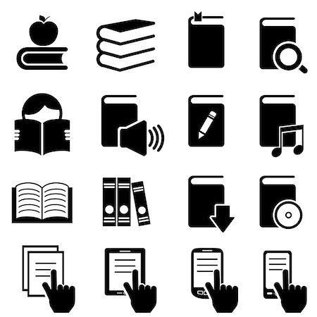 soleilc (artist) - Books, literature and reading icon set Stock Photo - Budget Royalty-Free & Subscription, Code: 400-06701101