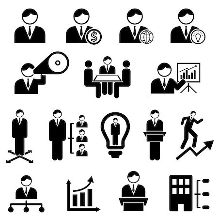 soleilc (artist) - Business and management icons with businessman Stock Photo - Budget Royalty-Free & Subscription, Code: 400-06701103